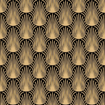 Art deco gold seamless pattern