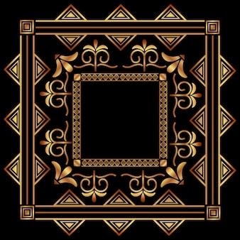 золотая рамка арт-деко