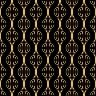 Art deco lines seamless pattern design