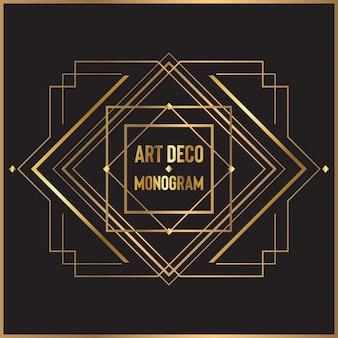 Art deco monogram design
