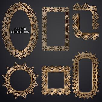 Art-deco ornamental frame