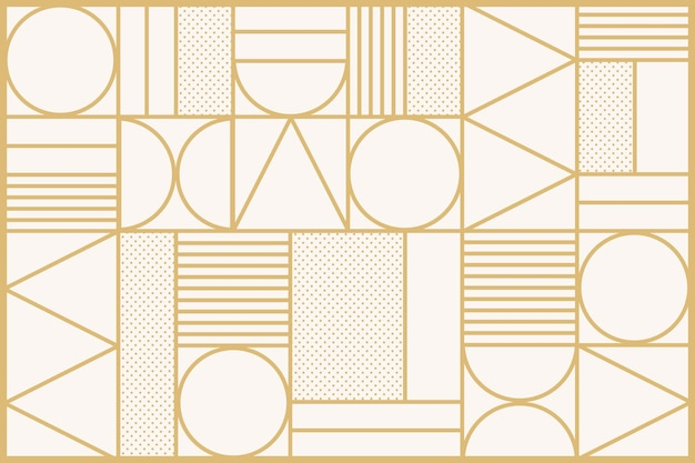 ゴールドのアールデコパターンの背景