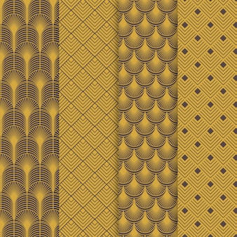 Art deco pattern collection