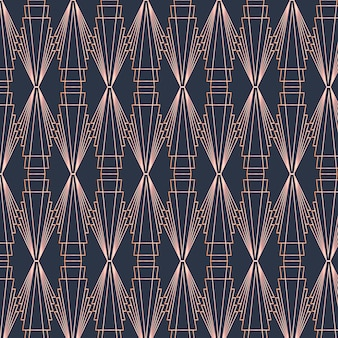 Art deco pattern in dark colours