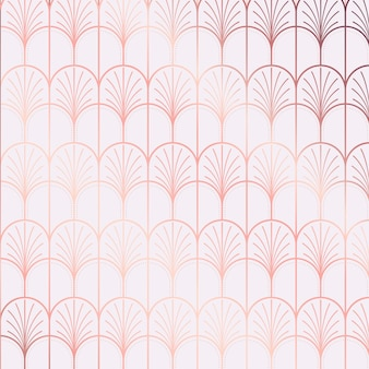 Art deco pattern gradient reflection tones
