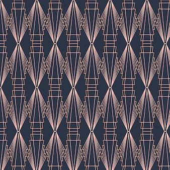어두운 색상의 아트 데코 패턴