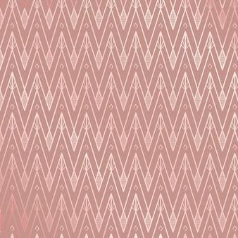 ローズピンクを基調としたアールデコ調の模様