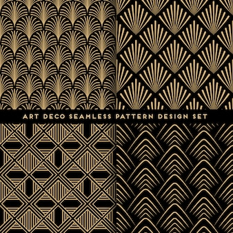 Art deco pattern set