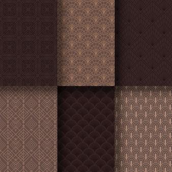 Art deco pattern set