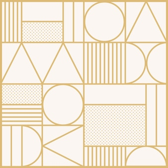 Art deco pattern vector background in gold