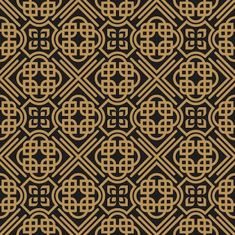 Art deco retro geometric decorative seamless pattern