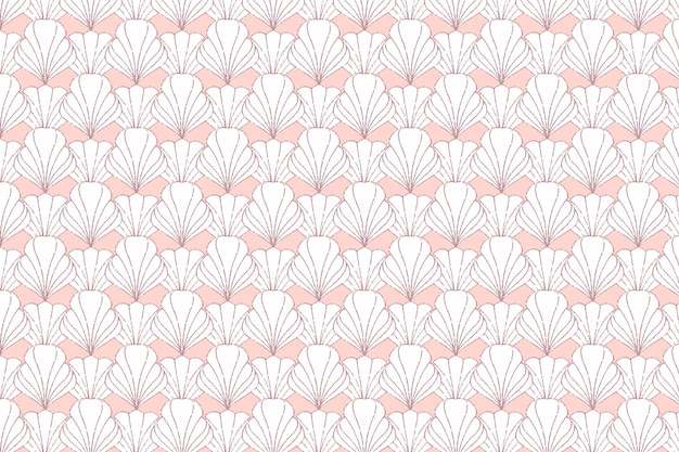 Art deco rose gold seamless pattern