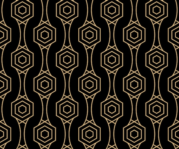 Art deco seamless pattern background design