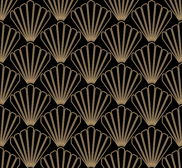 Art deco seamless pattern design