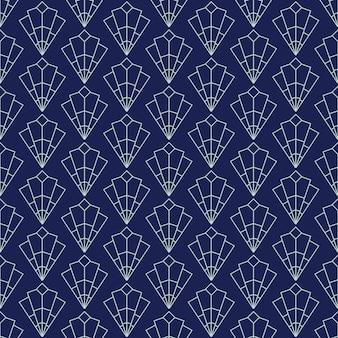 アールデコのシームレスなパターン、デザイン、カバー、テキスタイル、壁紙、ベクトルの装飾のための幾何学的な背景