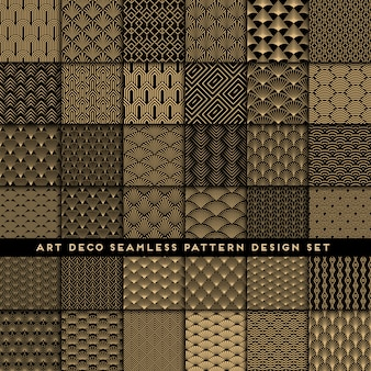 Art deco seamless pattern mega set