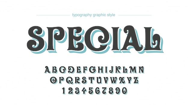 Стиль арт деко стиль винтаж вихрь типография