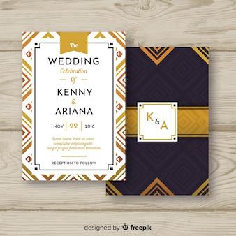 Art deco style wedding template