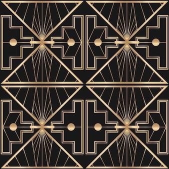 Арт-деко векторной рамки с геометрическим узором на темном фоне