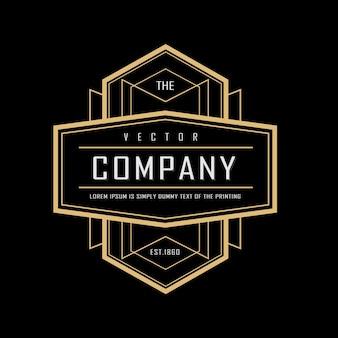 Art deco vintage badge logo design illustration