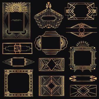 Винтажные рамки ар-деко и элементы дизайна