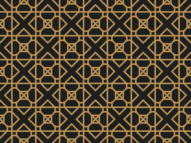Art deco vintage geometric decorative seamless pattern