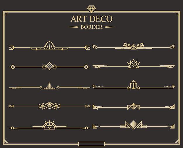 Коллекция делителей art deco