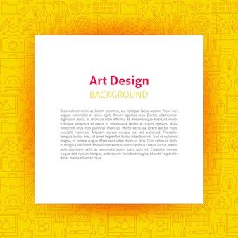 Art design paper template. vector illustration of outline poster.