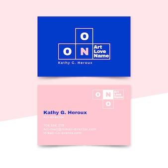 Арт-директор дизайн шаблона визитной карточки