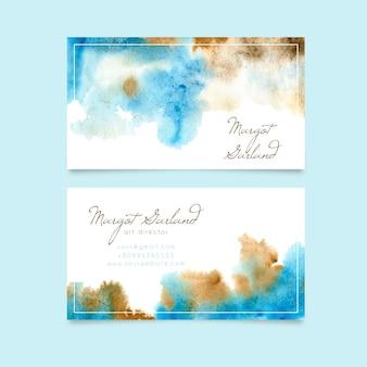 Art director business card watercolor design