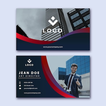 Art director business card with photo