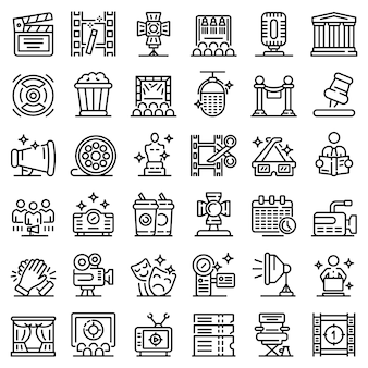 Art director icons set, outline style