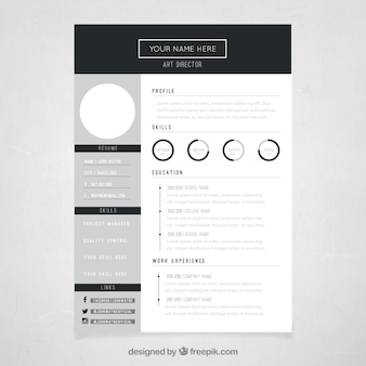 Paper cv vectors photos and psd files free download art director resume template yelopaper