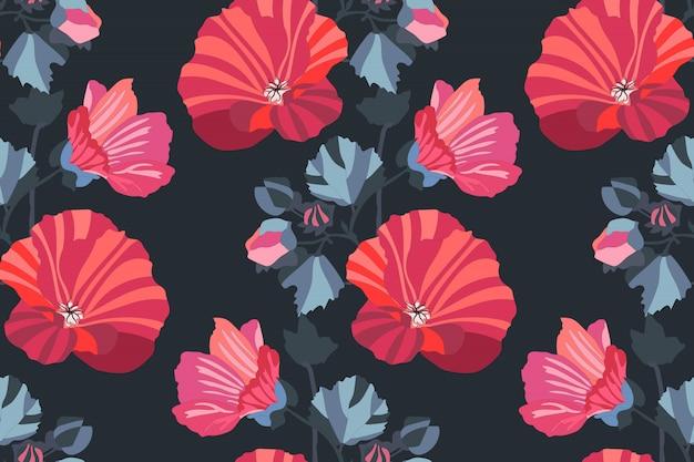 아트 꽃 원활한 패턴입니다.