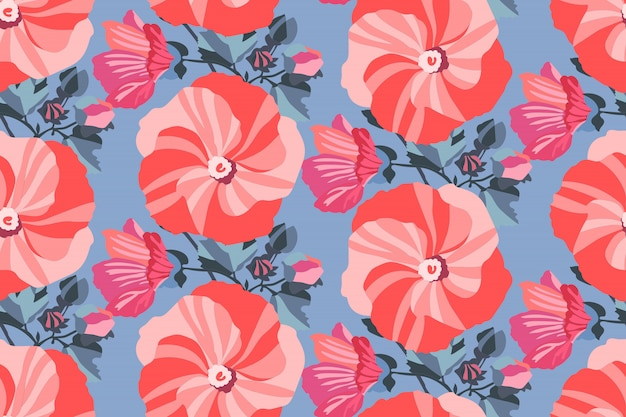 Art floral seamless pattern.