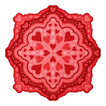 Искусство на день святого валентина с красными сердечками