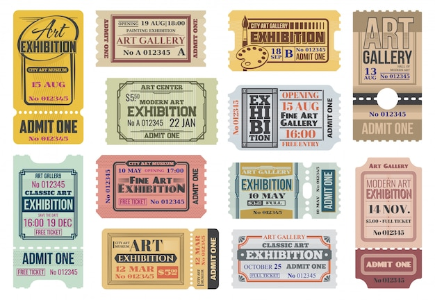 アートギャラリー、展覧会のチケット、イベントへの入場