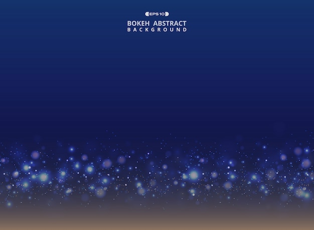 Art gradient blue with sparkle glitters bokeh background