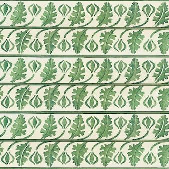 Sfondo di foglie di crisantemo art nouveau