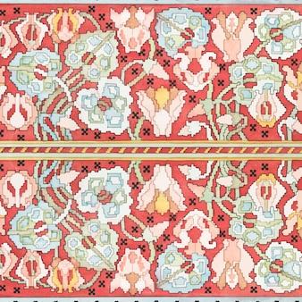 アールヌーボーシクラメンの花柄の背景
