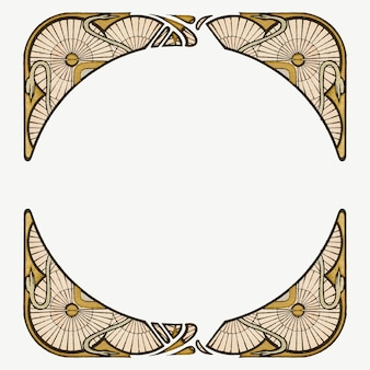 Art nouveau frame element, remixed from the artworks of alphonse maria mucha