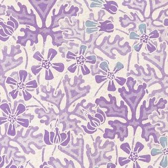 아르누보 제라늄 꽃 패턴 배경