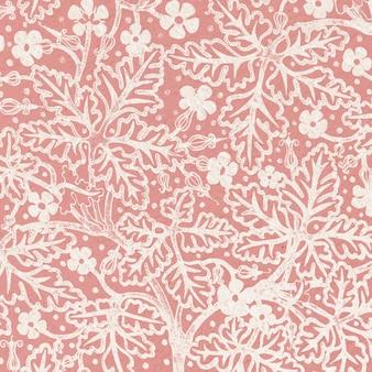 Priorità bassa del reticolo di fiore del geranio di art nouveau Vettore gratuito