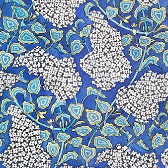 아르누보 라일락 꽃 패턴 배경
