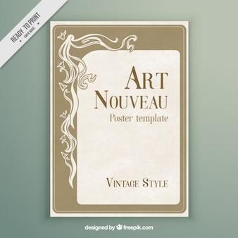 Art poster modello nouveau