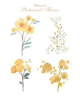 식물 꽃 수채화 스타일 이미지의 꽃 예술
