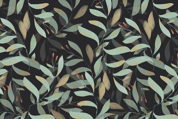 식물 원활한 패턴의 수채화 스타일 벽지 이미지의 꽃 예술