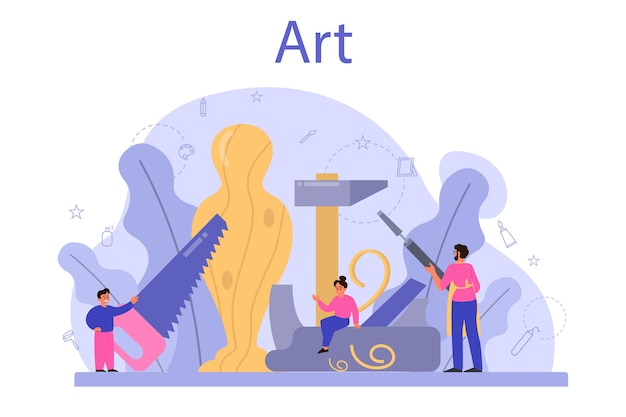 Art school education illustration