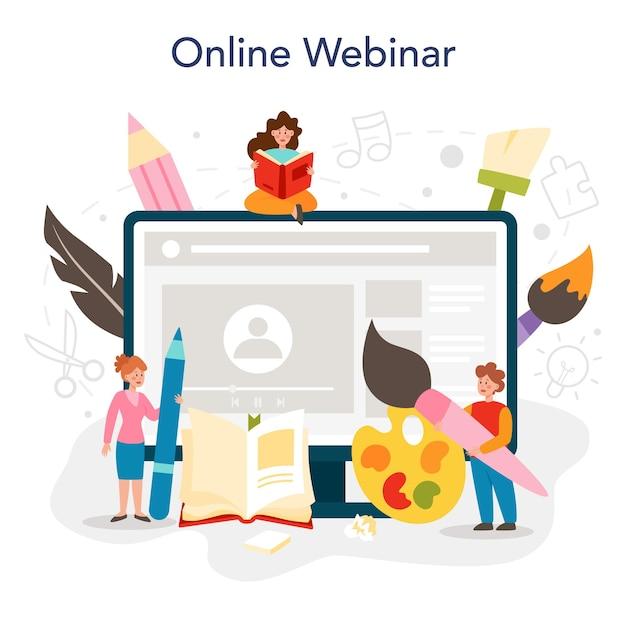 미술 학교 교육 온라인 서비스 또는 플랫폼 학생 보유