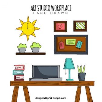 Арт-студия, рисованной